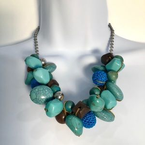Jewelry - Blue Faux Turquoise Statement Necklace